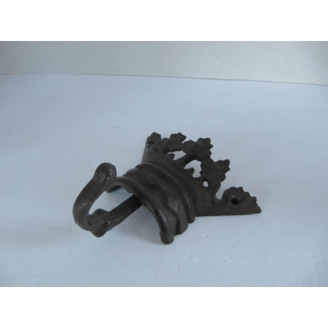 English Iron Crown Wall Hook For Sale - Image 3 of 5