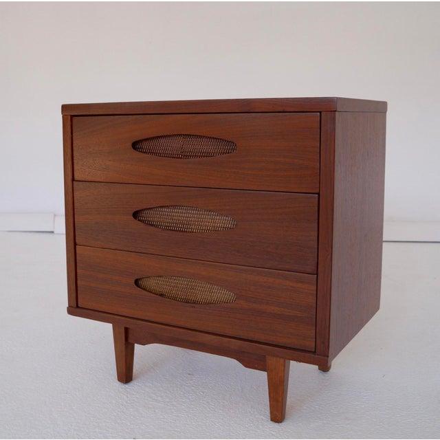 McCoy Furniture Mid-Century 3-Drawer Walnut Nightstand - Image 2 of 10