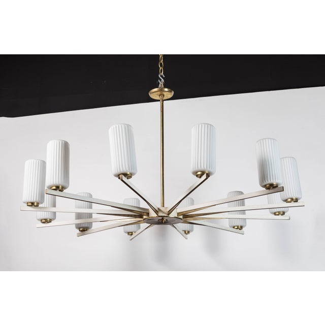 Chandelier Attributed to Stilnovo For Sale - Image 9 of 9