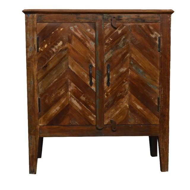 Reclaimed Wood Rustic Nightstand - Image 1 of 3