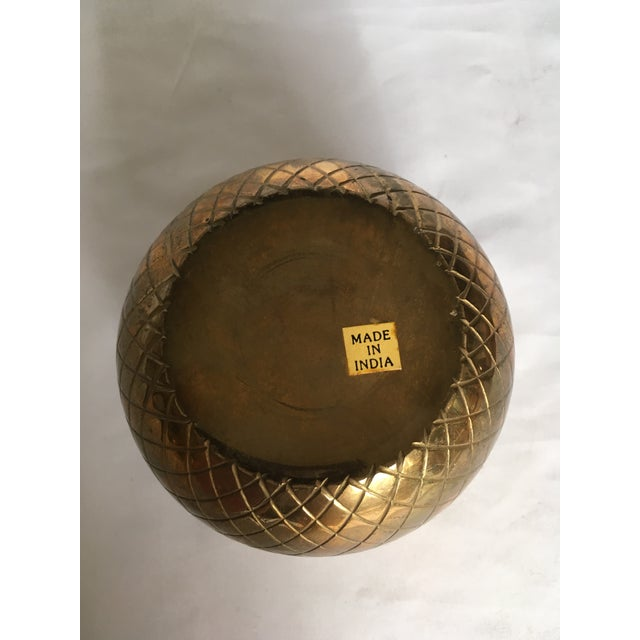 Boho Chic Modern Brass Candle Votive For Sale - Image 3 of 5