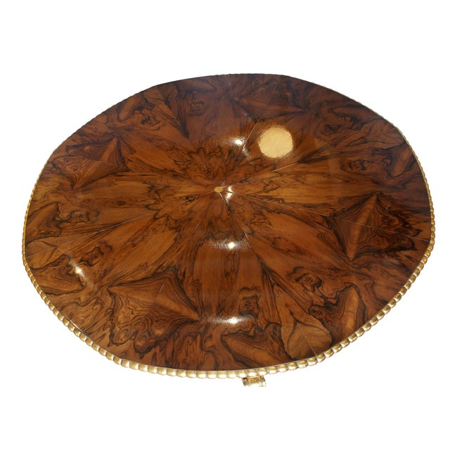 When fully open its circular with a gilded beaded edge, pie shape wedges when closed and stationary and additional...