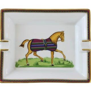 Hermes Equestrian Horse Stripe Blanket Ashtray For Sale