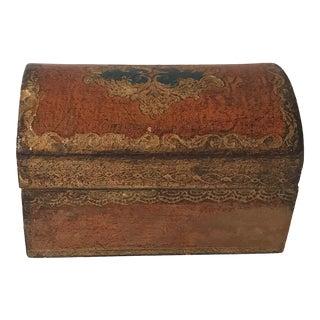 Vintage Mid-Century Florentine Gold Keepsake Box