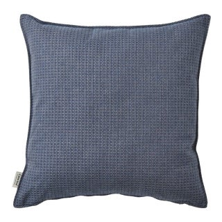 Cane-Line Link Scatter Cushion, Square, Blue For Sale