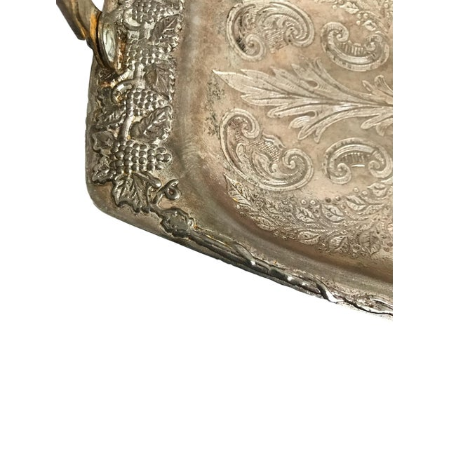 Silver Tray with Carrying Handle - Image 2 of 7