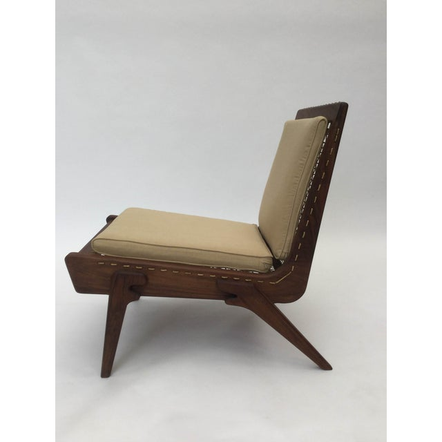 Brown Pair of limited edition George Allen lounge chairs For Sale - Image 8 of 8
