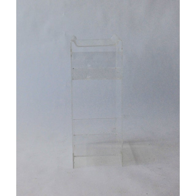 Vintage Lucite Side Table / Plant Stand - Image 3 of 4