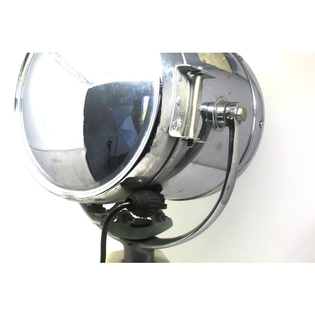 White Vintage Ray-Line Marine Search Light - Newly Rewired - Vintage Lamp For Sale - Image 8 of 13