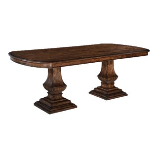 Pastry Table Tuscan Italian Rustic Pecan Solid For Sale