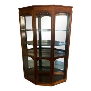 Pulaski Collectors Cherry Wood Cabinet For Sale