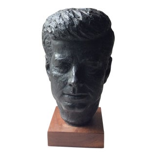 Mid Century Kennedy Fine Art Bust For Sale