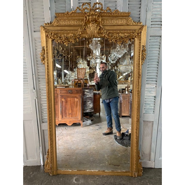 18th Century French Louis XVI Period Mirror For Sale - Image 10 of 10