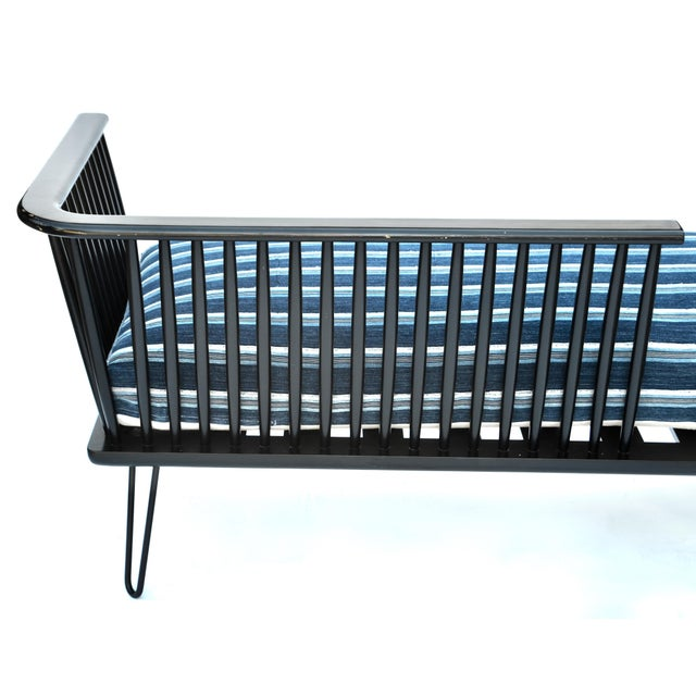 Mid-Century Modern Daybed Settee With African Upholstery For Sale In Los Angeles - Image 6 of 9