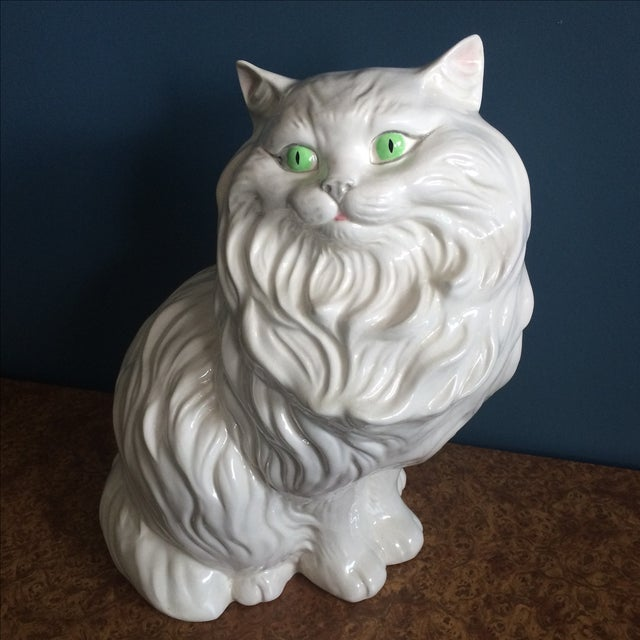 White Ceramic Cat - Image 3 of 8