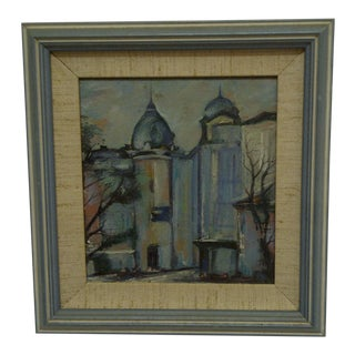 "Framed Original Painting ""The Towers"" For Sale"