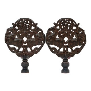 Leaping Stag Lamp Finials - a Pair For Sale