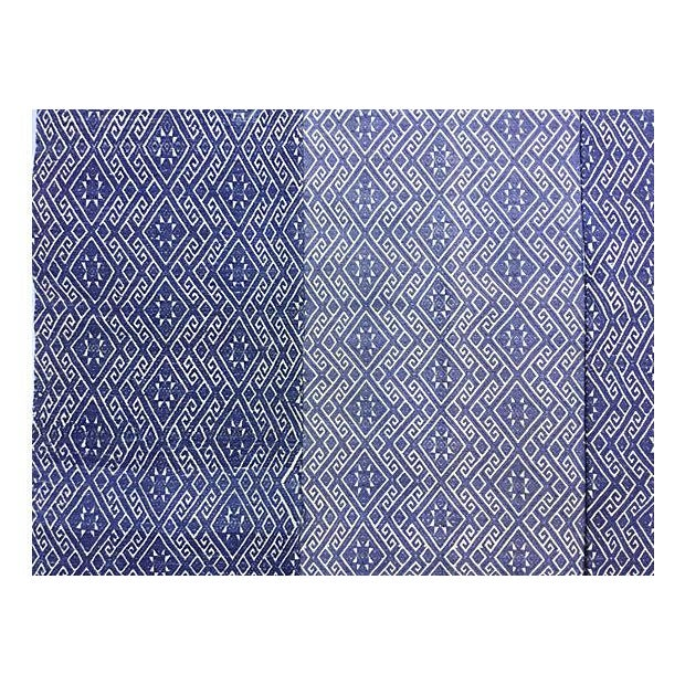 Hill Tribe Blue & White Dowry Wedding Quilt - Image 5 of 5
