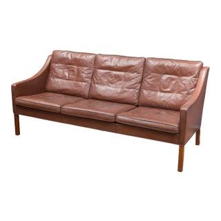 Børge Mogensen Cognac Leather Sofa, Model 2209 For Sale