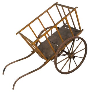Painted Provençal Wheelbarrow For Sale