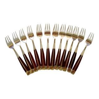 Cocktail Forks, Set of 12 For Sale