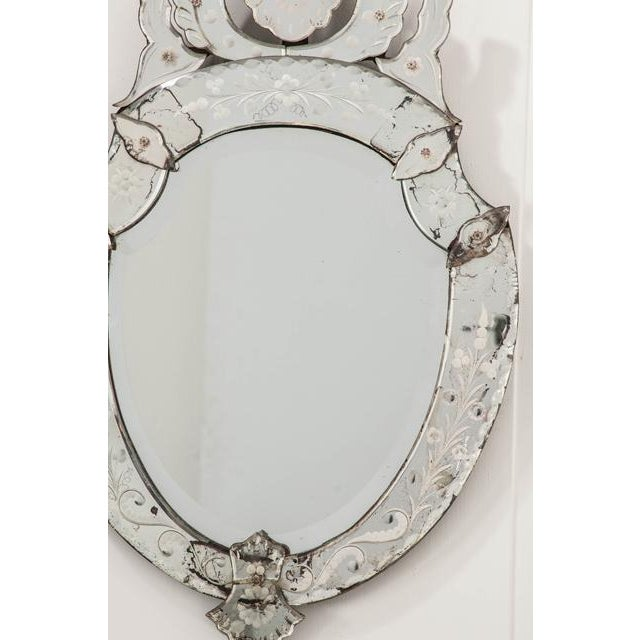 Late 19th Century Venetian Shield Form Wall Mirror For Sale - Image 9 of 10