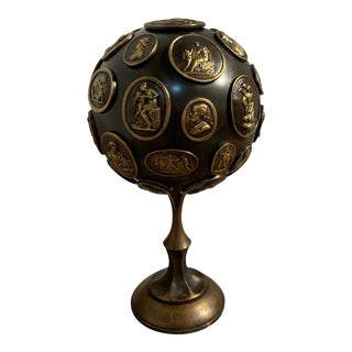 Grand Tour Gilt and Patinated Bronze Orb With Intaglios For Sale