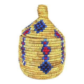 Large Vintage Morrocan Berber Basket