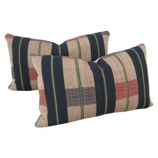 Handwoven Tribal Pillows - A Pair