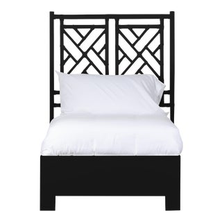 Chippendale Bed Twin - Black For Sale