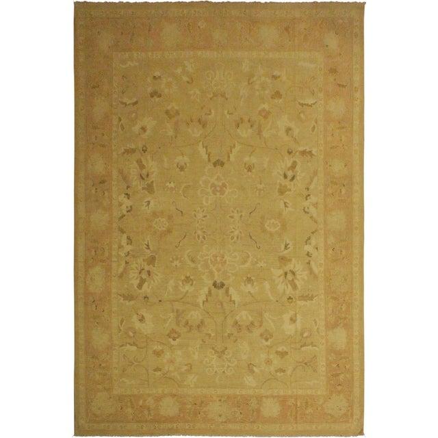 Tan Kafkaz Sun-Faded Ara Lt. Tan/Rose Wool Rug -10'3 X 13'7 For Sale - Image 8 of 8