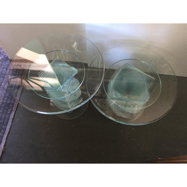 Glass Spiral Side Tables - A Pair - Image 4 of 7
