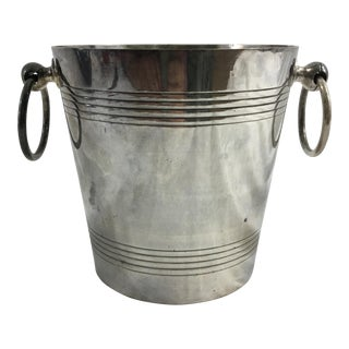 French Art Deco Silver-Plate Ice Bucket