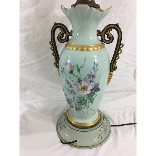 Old Paris Springtime Lamps With Hand-Painted Toile Base - a Pair For Sale - Image 10 of 11