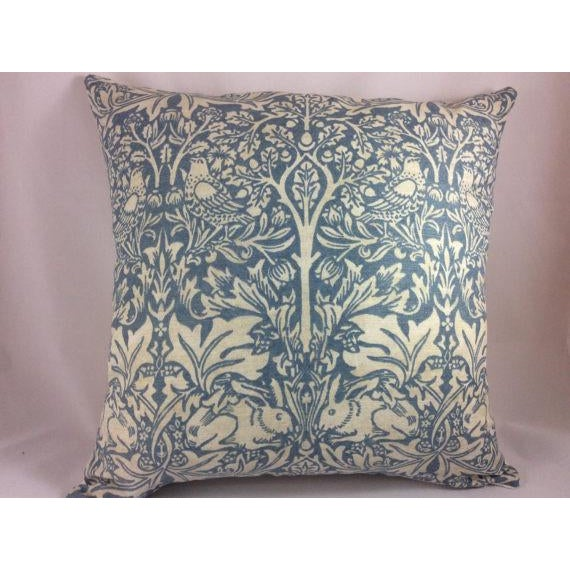 "From venerable English Textile House, William Morris, ""Brer Rabbit"" is a heavy weight linen in duck egg blue and off..."
