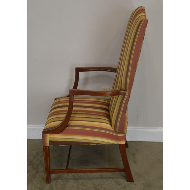 Stickley Colonial Williamsburg Collection Mahogany Martha Washington Lolling Arm Chair For Sale In Philadelphia - Image 6 of 13