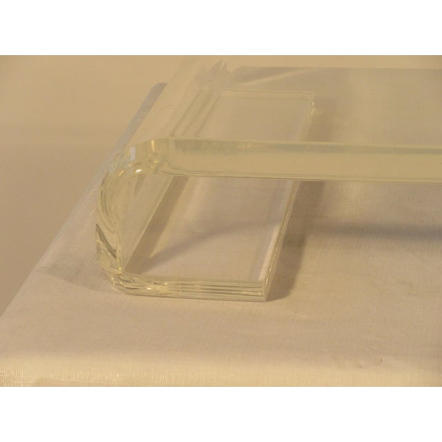 Mid-Century Modern 1970s Lucite Base For Sale - Image 3 of 9