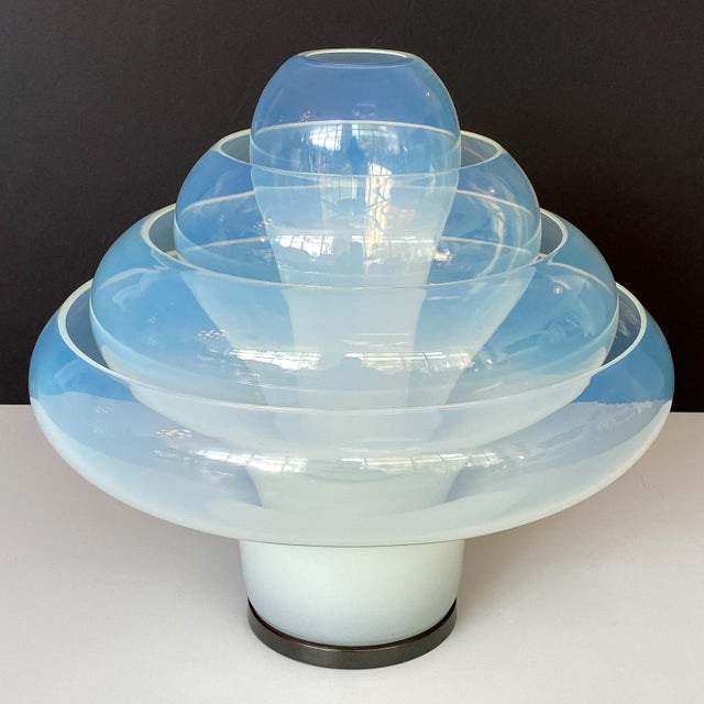 "Carlo Nason ""Lotus"" Table Lamp for Mazzega For Sale - Image 9 of 13"