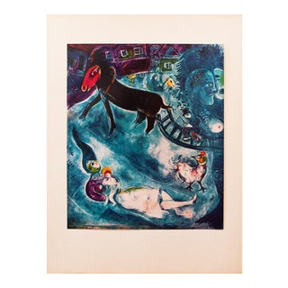"1940s Marc Chagall, Original ""The Madonna and the Sledge"" Period Lithograph For Sale"