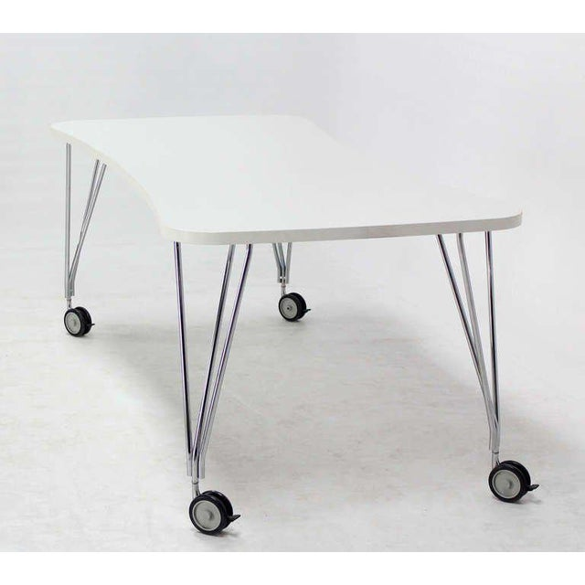 Chrome 1990s Vintage Medium Kartel Max Dining or Conference Table For Sale - Image 7 of 11