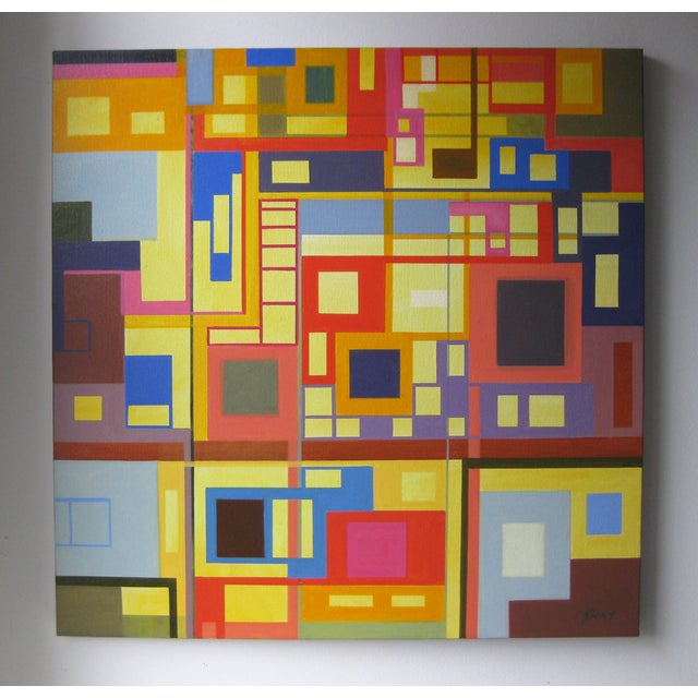 """""""Homage to the Squares"""" Original Oil Painting - Image 2 of 4"""