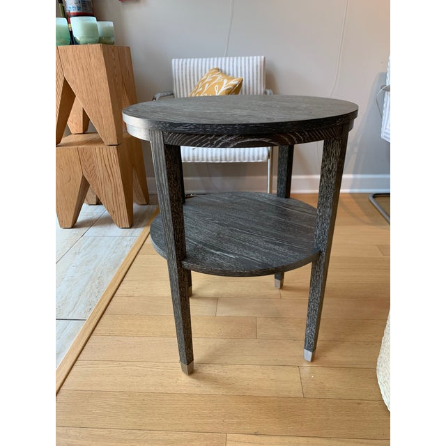 2010s Contemporary Wooden Side Table For Sale - Image 5 of 5