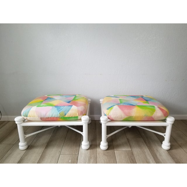 1980s Vintage Giacometti Style Ottomans - a Pair For Sale - Image 5 of 13