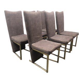 Post-Modern Carson Cantilever High Back Dining Chairs - Set of 6 For Sale