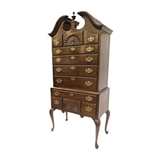 Drexel Queen Anne Style Mahogany Highboy Chest For Sale