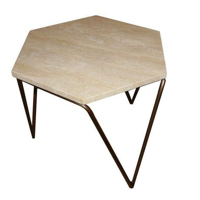 Customizable Tom Tripod Hexagon Table For Sale - Image 4 of 6