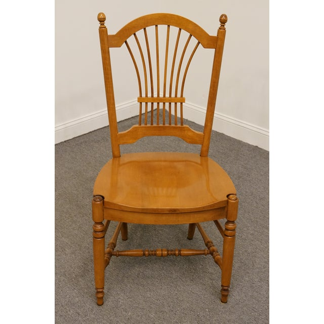 Traditional Late 20th Century Vintage Ethan Allen Casual Dining Wheat Back Dining Side Chair For Sale - Image 3 of 10