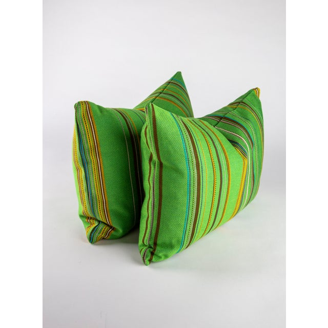 "Modern 22"" X 14"" Maharam Point by Paul Smith Down Pillows For Sale - Image 3 of 8"