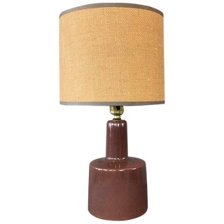Chocolate Color Gordon and Jane Martz Table Lamp for Marshall Studios For Sale