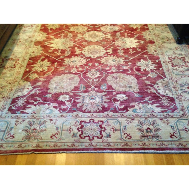 2000s Oriental Handmade Red Rug - 8' X 10' For Sale - Image 5 of 7